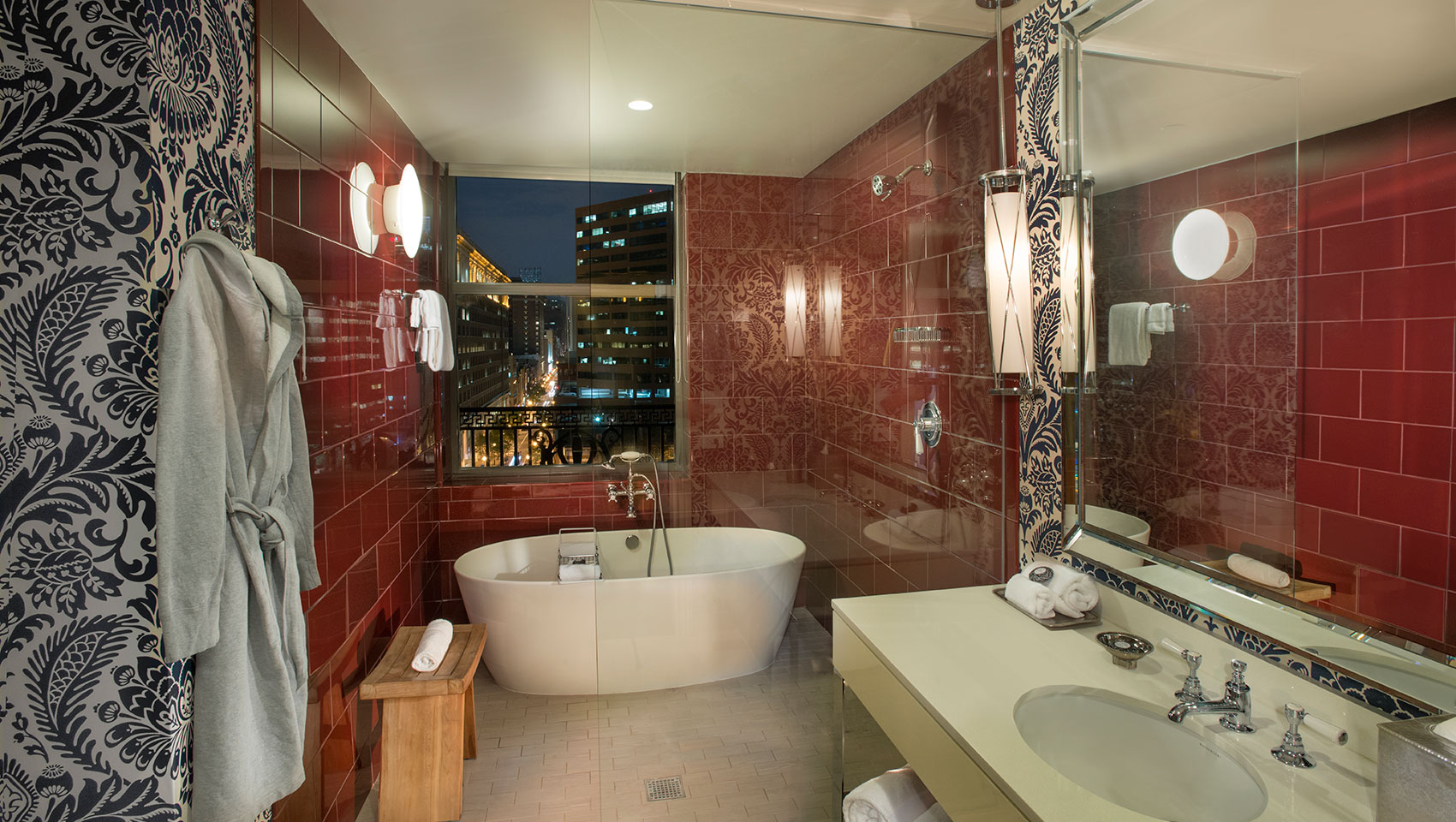 spa bath at Kimpton Hotel Monaco Philadelphia