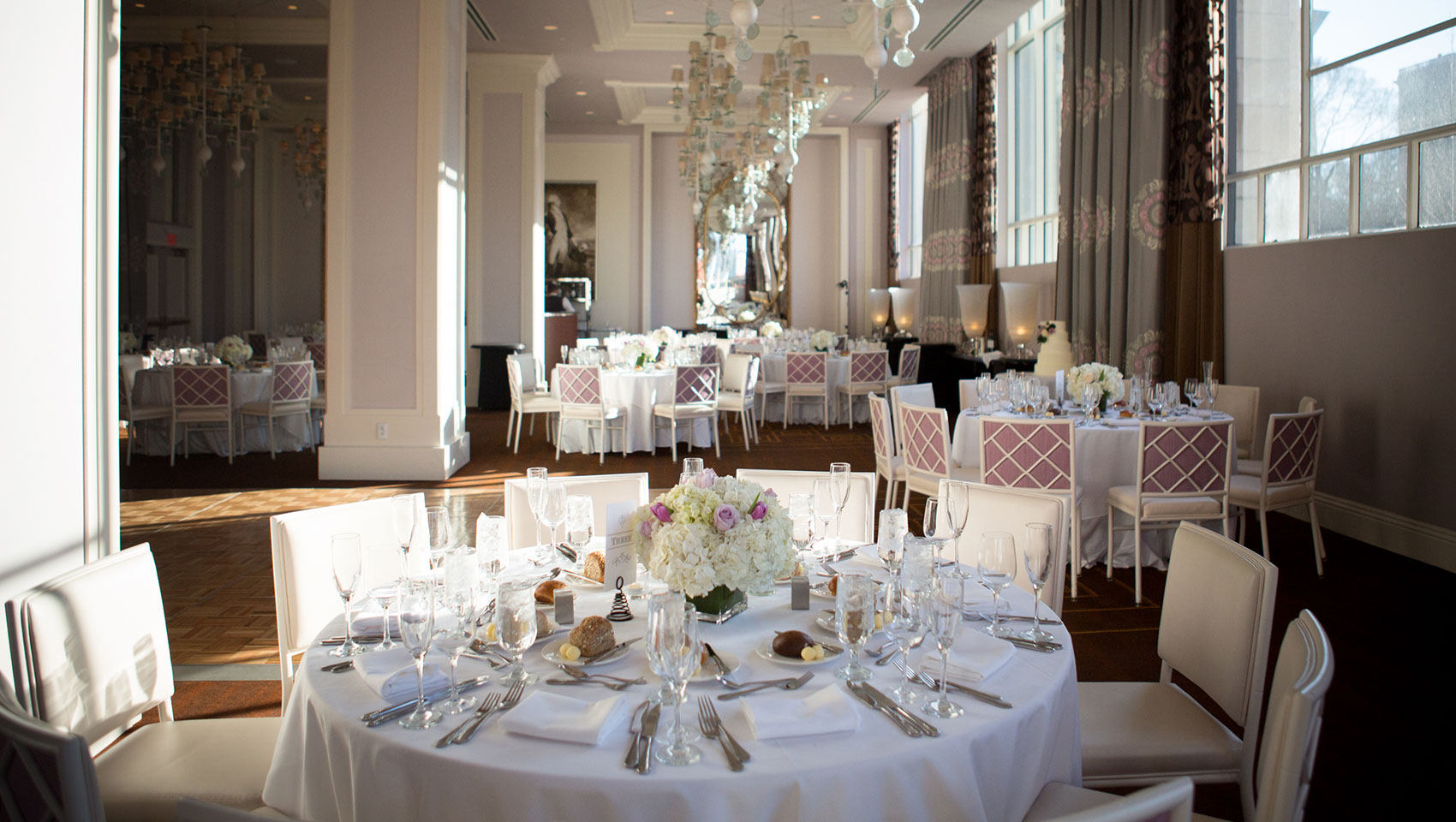 Kimpton Hotel Monaco Philadelphia wedding set up