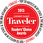 2015 Conde Nast Readers Choice Award