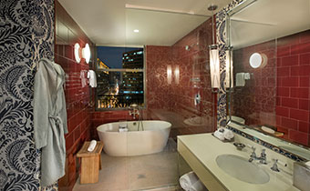 corner king spa room at Kimpton Hotel Monaco Philadelphia